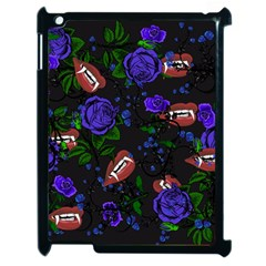 Blue Rose Vampire Apple Ipad 2 Case (black)