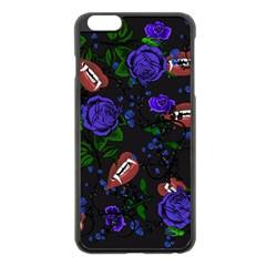 Blue Rose Vampire Apple Iphone 6 Plus/6s Plus Black Enamel Case