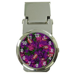 Purple  Rose Vampire Money Clip Watches
