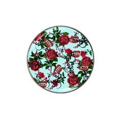 Light Blue Rose Vampire Hat Clip Ball Marker