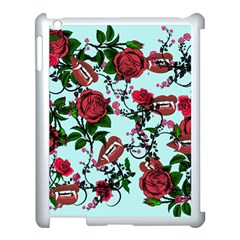 Light Blue Rose Vampire Apple Ipad 3/4 Case (white) by snowwhitegirl
