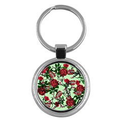 Green Rose Vampire Key Chains (round)