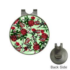 Green Rose Vampire Hat Clips With Golf Markers