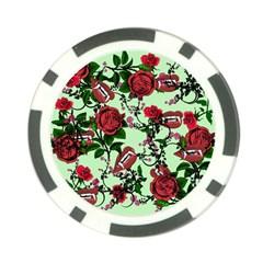 Green Rose Vampire Poker Chip Card Guard (10 Pack)