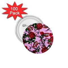 Pink Rose Vampire 1 75  Buttons (100 Pack)