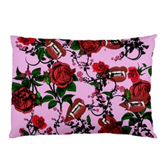 Pink Rose Vampire Pillow Case (two Sides)