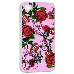 Pink Rose Vampire Apple Iphone 4/4s Seamless Case (white)