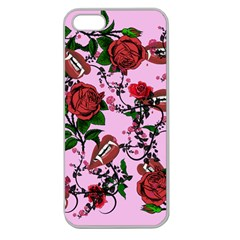 Pink Rose Vampire Apple Seamless Iphone 5 Case (clear)