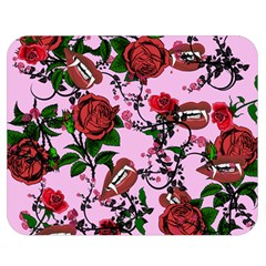 Pink Rose Vampire Double Sided Flano Blanket (medium)