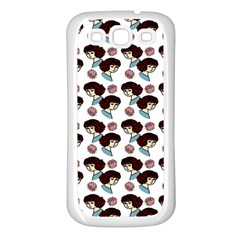 Redhead Girl Pattern Samsung Galaxy S3 Back Case (white)
