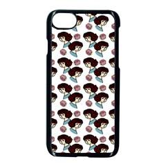 Redhead Girl Pattern Apple Iphone 7 Seamless Case (black)