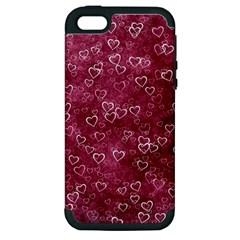 Heart Pattern Apple Iphone 5 Hardshell Case (pc+silicone)