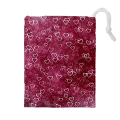 Heart Pattern Drawstring Pouch (xl)