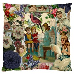 Angel Collage Large Cushion Case (two Sides)