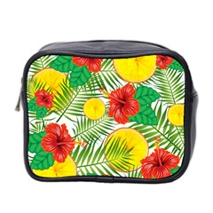 Orange Tropics Mini Toiletries Bag (two Sides)