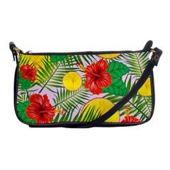 Orange Tropics Pink Shoulder Clutch Bag
