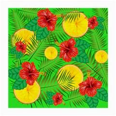 Orange Tropics Green Medium Glasses Cloth (2 Side)