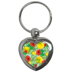 Orange Tropics Blue Key Chains (heart)