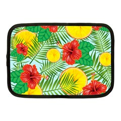 Orange Tropics Blue Netbook Case (medium) by snowwhitegirl