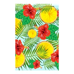 Orange Tropics Blue Shower Curtain 48  X 72  (small)