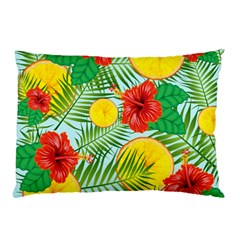 Orange Tropics Blue Pillow Case (two Sides)
