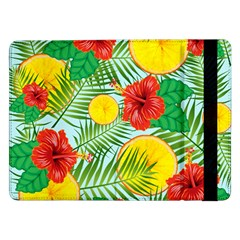 Orange Tropics Blue Samsung Galaxy Tab Pro 12 2  Flip Case