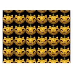 Cat Pumpkin Rectangular Jigsaw Puzzl