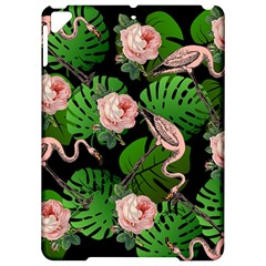 Flamingo Floral Black Apple Ipad Pro 9 7   Hardshell Case