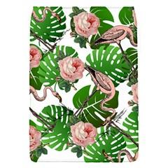Flamingo Floral White Removable Flap Cover (s) by snowwhitegirl