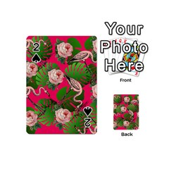 Flamingo Floral Pink Playing Cards 54 (mini)