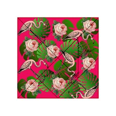 Flamingo Floral Pink Acrylic Tangram Puzzle (4  X 4 )