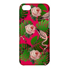 Flamingo Floral Pink Apple Iphone 5c Hardshell Case