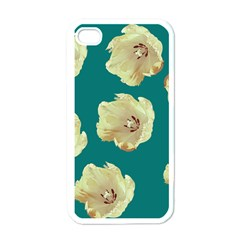 Teal Tulips Apple Iphone 4 Case (white)