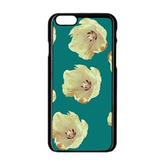 Teal Tulips Apple Iphone 6/6s Black Enamel Case
