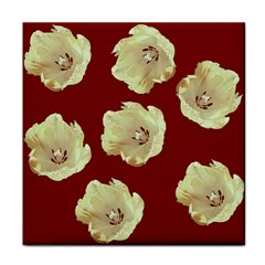 Red Tulips Tile Coasters