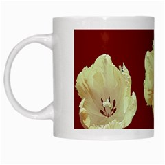 Red Tulips White Mugs