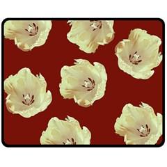 Red Tulips Double Sided Fleece Blanket (medium)