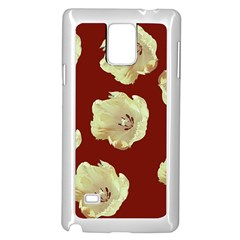Red Tulips Samsung Galaxy Note 4 Case (white)