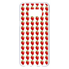 Strawberries Samsung Galaxy S8 Plus White Seamless Case