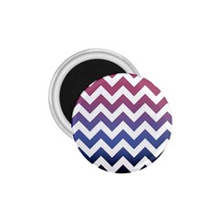 Pink Blue Black Ombre Chevron 1 75  Magnets