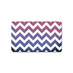 Pink Blue Black Ombre Chevron Magnet (name Card)