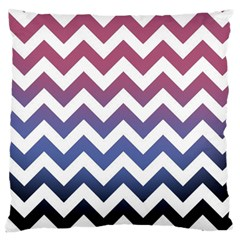 Pink Blue Black Ombre Chevron Standard Flano Cushion Case (two Sides)