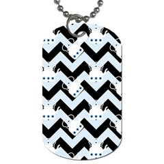 Blue Teapot Chevron Dog Tag (one Side)