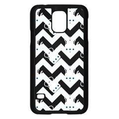 Blue Teapot Chevron Samsung Galaxy S5 Case (black)