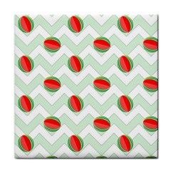 Watermelon Chevron Green Face Towel by snowwhitegirl