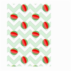 Watermelon Chevron Green Large Garden Flag (two Sides)