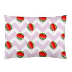 Watermelon Chevron Pillow Case (two Sides) by snowwhitegirl