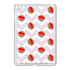 Watermelon Chevron Apple Ipad Mini Case (white)