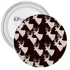 Brown Deer Pattern 3  Buttons