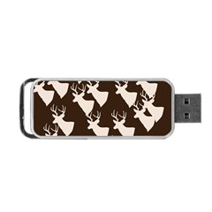 Brown Deer Pattern Portable Usb Flash (two Sides)